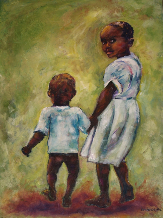 """Big Sister"" prints available: contact artist for sizes and prices (half of $ goes to Orphange Uganda)"
