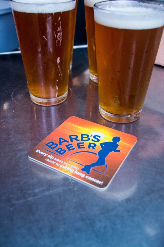 The Barb's Beer coaster helps create interest in the beer at restaurants.